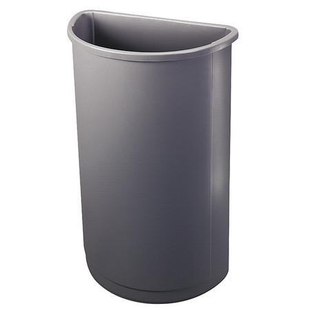21 gal.  Half Round  Gray  Trash Can
