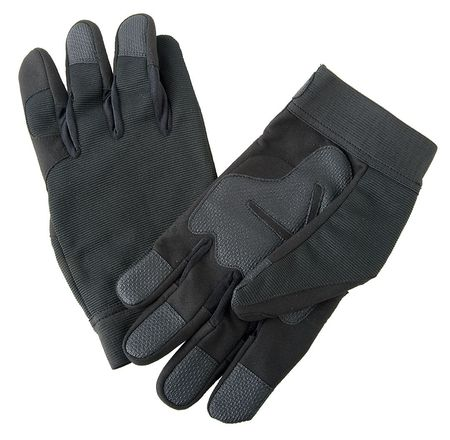Anti-Vibration Gloves, 2XL, Black, PR