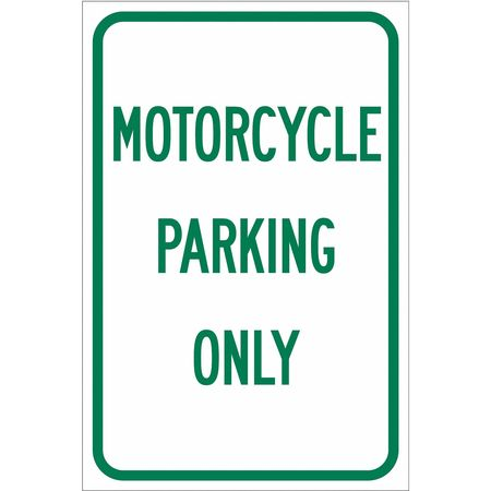 Parking Sign, 18 x 12In, GRN/WHT, Text, P-3