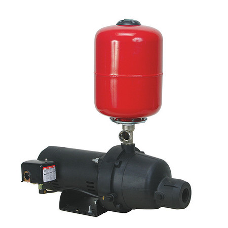 Shallow Well Jet Pump,  Plastic,  1/3 HP