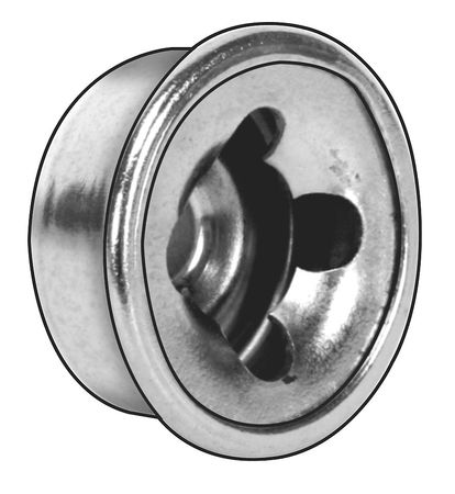 "7/16"" Steel Nickel Finish Hammer Style Cap Nuts,  25 pk."
