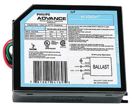 PHILIPS ADVANCE 39 W,  1 Lamp HID Ballast
