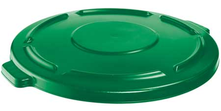 Trash Can Top, Flat, Snap-On Closure, Green