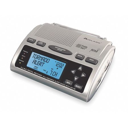 Table Top Weather Radio, Silver
