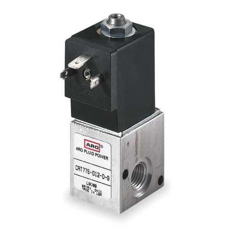 Solenoid Air Control Valve, 1/4 In, 120VAC