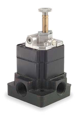 Solenoid Air Control Valve, 1/2 In, 4-Way