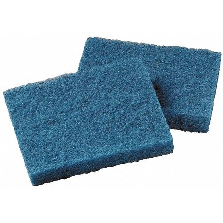 "Cleaning Pad, Blue, 4"" L, 5-1/4"" W, PK40"