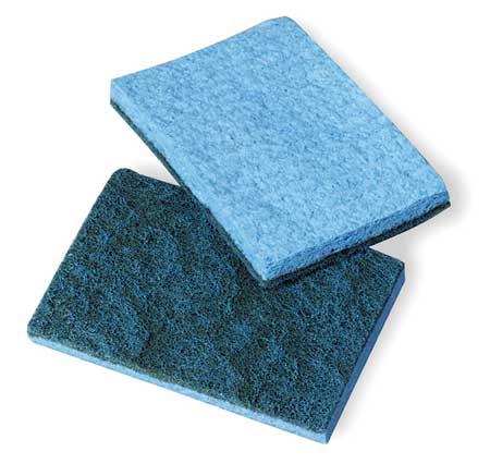 """Scrubber Sponge, Blue, 5"""" L, 5"""" W, PK40"""