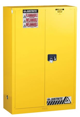 Flammable Safety Cabinet, 45 Gal., Yellow