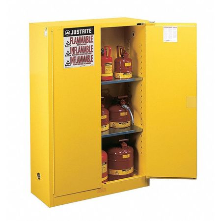 Genial Flammable Safety Cabinet, 90 Gal., Yellow