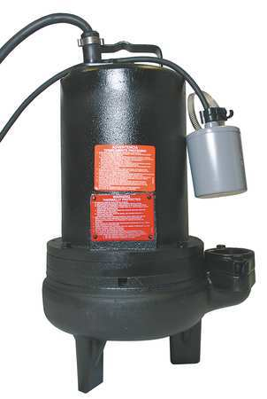 "1-1/2 HP 2"" Auto Submersible Sewage Pump 230V Tether"