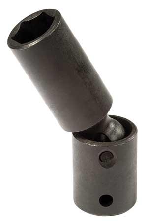 Flex Impact Socket, 1/2 In Dr, 15mm, 6 pt