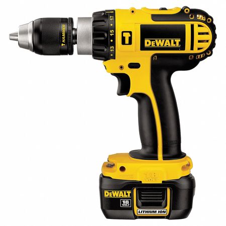Hammer Drill/Driver Kit, 8-7/8 In. L