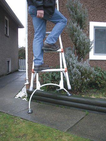Leg Leveler/Stabilizer, Stl, 1200 lb. Cap.