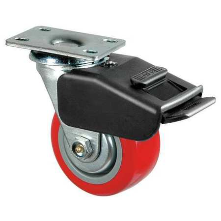 Swivel Plate Caster, Poly, 5 in., 650 lb, Rd