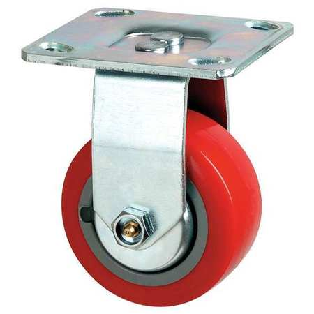 Rigid Plate Caster, Poly, 5 in., 650 lb., Rd