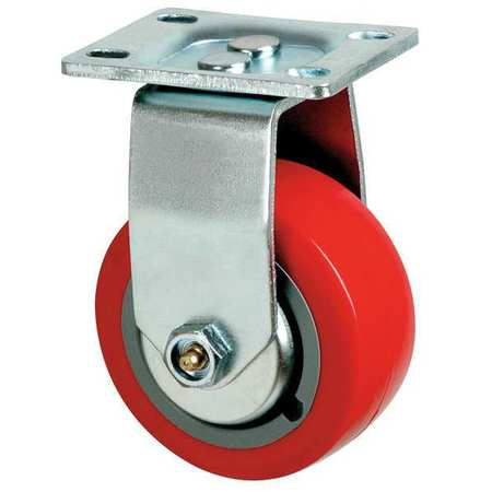 Rigid Plate Caster, Poly, 6 in., 700 lb., Rd