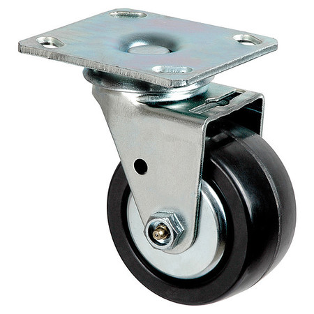 Swivel Plate Caster, Phenolic, 4 in., 600 lb.