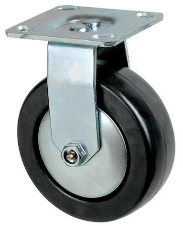 Rigid Plate Caster, Phnolic, 5 in., 650 lb.