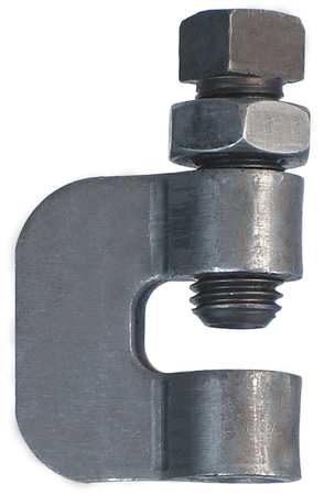 C Clamp w/Locknut, Rod Sz 1/2 In