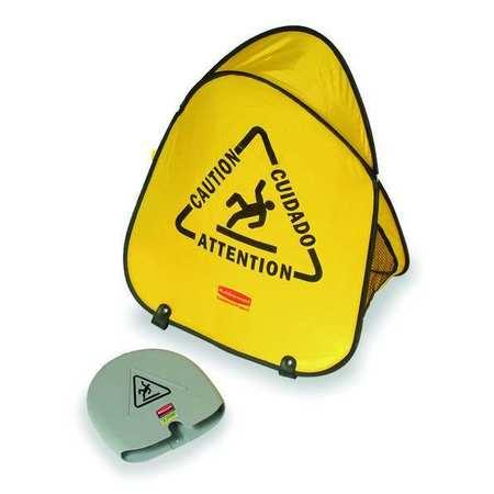 Soft Safety Sign,  Caution,  Eng/Sp/Fr