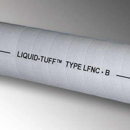 Liquid-Tight Conduit, 3/8 In x 50 ft, Gray