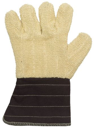 Flame Retardant Gloves, XL, Ylw/Brown, PR