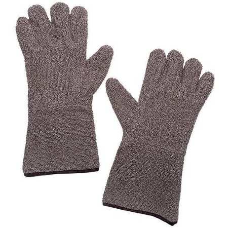 Heat Resistant Gloves, Brown/White, XL, PR