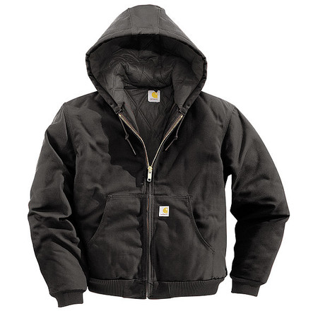 Hooded Jacket, Insulated, Black, M