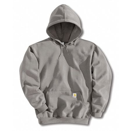 Hooded Swtshirt, Hthr Gray, Cotton/PET, 3XL