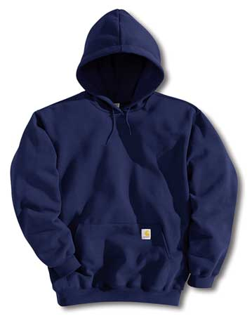 Hooded Sweatshirt, Navy, XL Tall