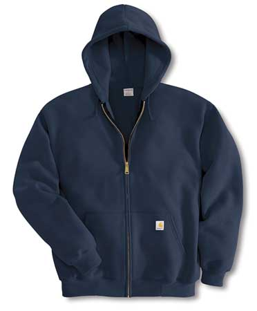 Hooded Sweatshirt, Navy, Cotton/PET, 3XL