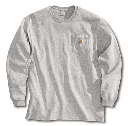 Long Sleeve T-Shirt, Heather Gray, M