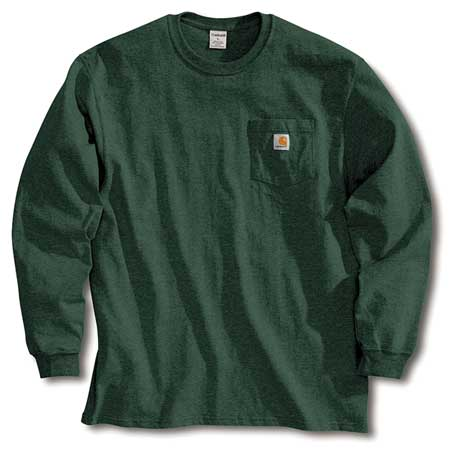 Long Sleeve T-Shirt, Hunter Green, 3XL