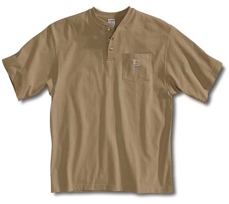 Short Sleeve Henley, Desert, XL