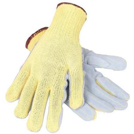 Cut Resistant Gloves, Gray/Yellow, L, PR