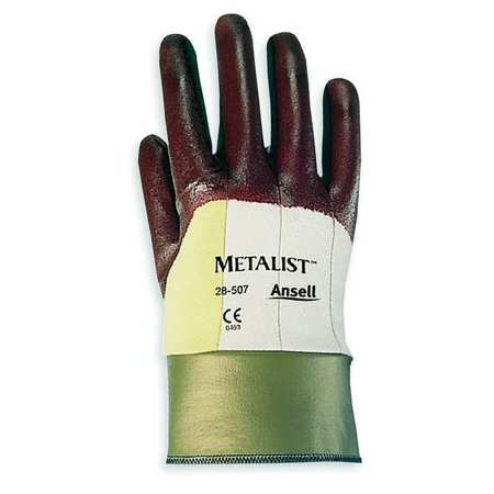Cut Resistant Gloves, Maroon, M, PR