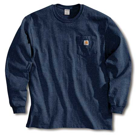 Long Sleeve T-Shirt, Navy, 2XL