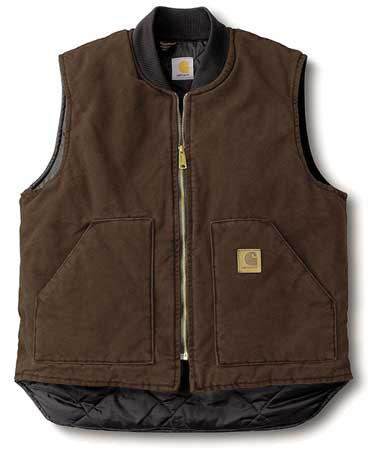 Vest, L Tall, Brown, Zipper