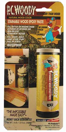 Epoxy, Wood Filler, Tan, 1.5 Oz. Stick