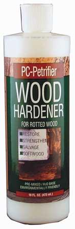 Wood Hardener, 16 oz., Bottle, MilkyWhite