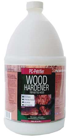 Wood Hardener, 1 gal., Milky White, Bottle