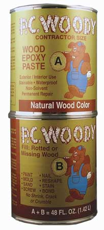 Epoxy, Wood Filler, Tan, 48 Oz. Can