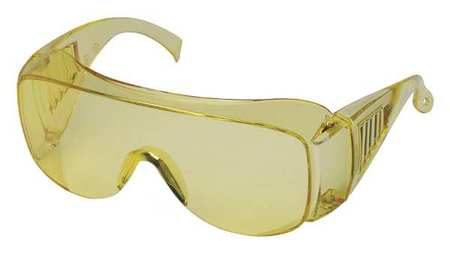 Condor Amber Safety Glasses,  Scratch-Resistant,  OTG