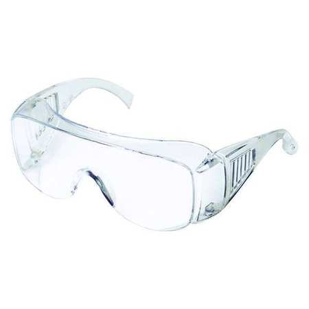 Condor Clear Safety Glasses,  Scratch-Resistant,  OTG
