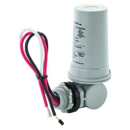 Photocntrl, 1/2 In. Conduit,  Flush, 120VAC