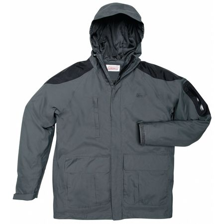 Rain Jacket with Hood, Char, 2XL
