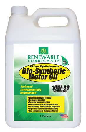 Engine Oil, Bio-Synthetic, 1 Gal., 10W30
