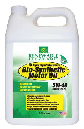 Engine Oil, Bio-Synthetic, 1 Gal., 5W40