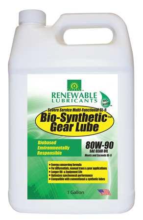 Gear Oil,  Bio-Synthetic,  1 gal.,  80W90